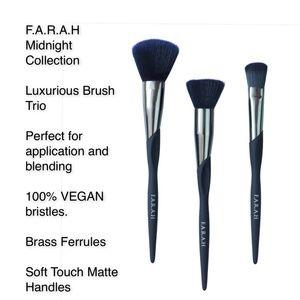 F.A.R.A.H. Midnight Collection Brush Trio NWT!